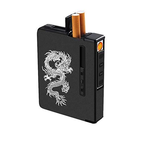 Hombre rico Inútil Restricción  iPobie Caja De Cigarillo Metal Pitilleras para Hombre Pitillera Cigarrillos  Hombre para Introducir 20 Cigarrillo Negro Carteras y monederos Pitilleras