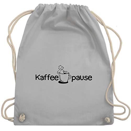 Shirtracer Beamter - Kaffeepause - Unisize - Hellgrau - WM110 - Turnbeutel und Stoffbeutel aus Bio-Baumwolle