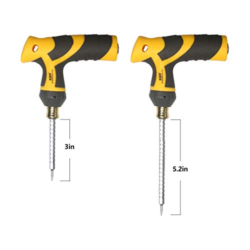 KER Ratcheting Screwdriver Set 9 In 1, T-Shaped Dual-Use Handle, 8 PCS Magnetic Double-Headed Batch Rods, Adjustable Batch Rod Length, Industrial Strength, Beef Tendon Cloth Package