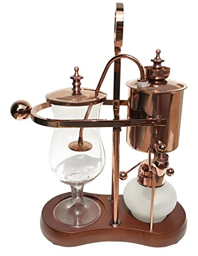 Nispira Belgian Belgium Luxury Royal Family Balance Syphon Siphon Coffee Maker Copper Color, 1 set