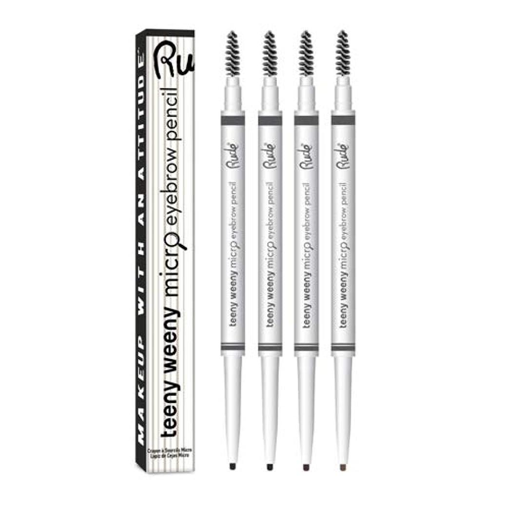 荒れ地球体記録RUDE Teeny Weeny Micro Eyebrow Pencil - Neutral Brown (6 Pack) (並行輸入品)