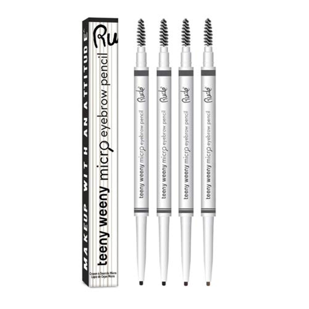 行方不明検出可能アシュリータファーマンRUDE Teeny Weeny Micro Eyebrow Pencil - Black Brown (3 Pack) (並行輸入品)