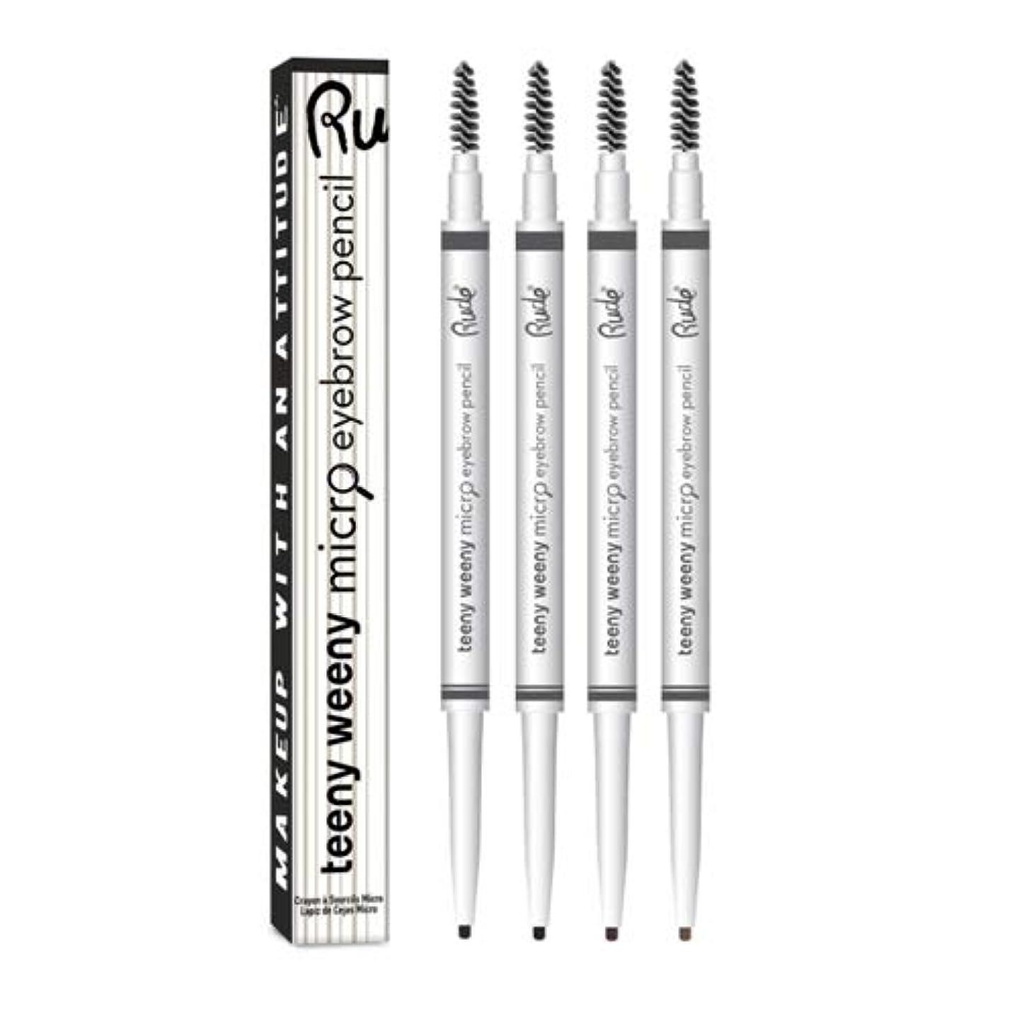 階層醜い窒息させるRUDE Teeny Weeny Micro Eyebrow Pencil - Neutral Brown (6 Pack) (並行輸入品)
