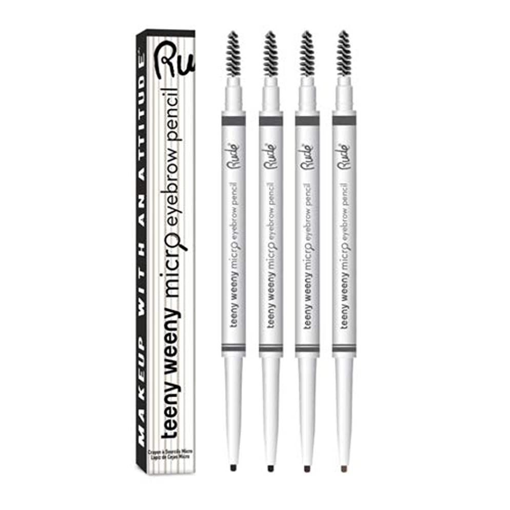 上向き実質的に大きいRUDE Teeny Weeny Micro Eyebrow Pencil - Neutral Brown (3 Pack) (並行輸入品)
