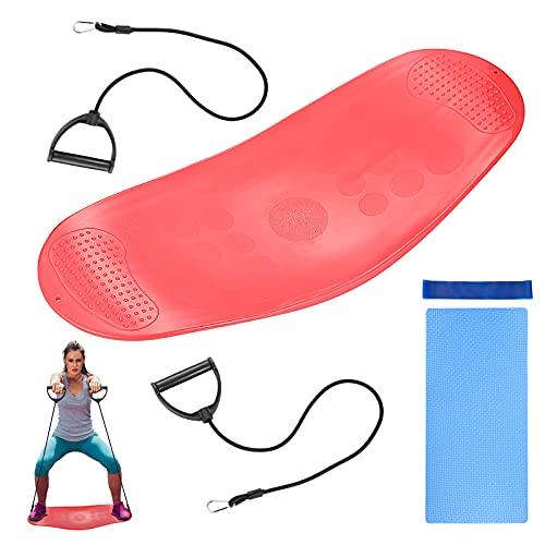 Balance Board con Asas Tabla de Equilibrio Balance Trainer Cojín de Equilibrio Twist Waist Disc Board, Plataforma de Equilibrio para Yoga Pilates Coordinación y Equilibrio Equilibrio Fitness