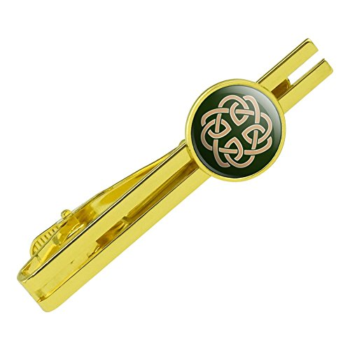 GRAPHICS & MORE Celtic Knot Love Eternity Round Tie Bar Clip Clasp Tack Gold Color Plated
