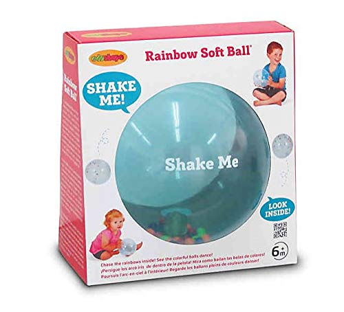 Edushape Sensory Toy Ball For Baby And Toddlers 7 Inch  MultiColor Mini Noisemaker Balls Inside  Fine Motor Skills Developmental Toy for Babies Toddlers Infants and Kids