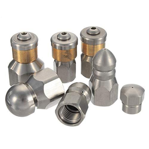 PSI Bouton Buse Jetter Sewer nez de vidange de pression tuyau d'arrosage Robinet Buse de pulvérisation for les tuyaux Machine de nettoyage (Diameter : C)