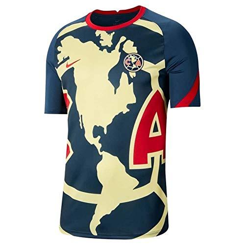 2020-2021 Club America Pre-Match Training Football Soccer T-Shirt Jersey (Navy)