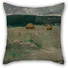 Beautifulseason 16 X 16 Inches / 40 By 40 Cm Oil Painting Theodore Wendel - Giverny Farm Throw Valentine Day Pillow Covers 2 Sides Is Fit For Bedroom Him Car Christmas Monther Teens Girls