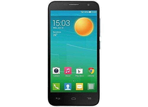 Alcatel 6050Y One Touch Idol 2 S Smartphone (12,7 cm (5 Zoll) Bildschirm, 8 Megapixel Kamera, Android Jelly Bean 4.3) schwarz