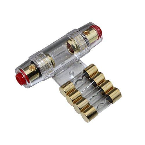 Baoblaze 4/8 Gauge AGU Sicherungshalter mit 40A KFZ Audio-Tragbarer Sicherung
