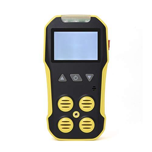 ZRHJ 4-in-1-Gasdetektor - Tragbares tragbares EX / O2 / H2S / CO-Messgerät mit LCD-Anzeige Digital & Datenmonitor-Messgerät 8 Stunden Arbeiten