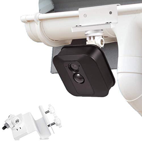 Wasserstein wetterfeste Regenrinnenhalterung kompatibel mit Blink XT2 Outdoor Kamera mit Universal Schraubenadapter - Bessere Platzierung für besseren Schutz (weiß)