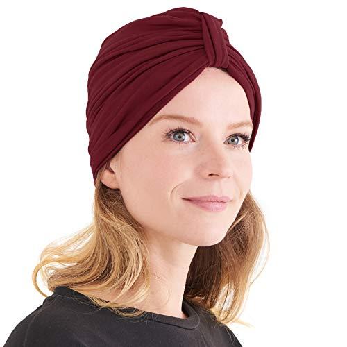 CHARM Womens Turban Headband & Headcover - Winter Bandana Head Wrap Chemo...