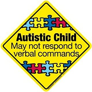 Autistic Child Emergency DECAL (non-magnetic!)
