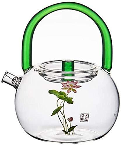 YONGYONGCHONG Tetera Tetera Taza Salud Tetera de la Caldera en el Vidrio Resistente al Calor Bar 600 Ml Hervidor de Agua