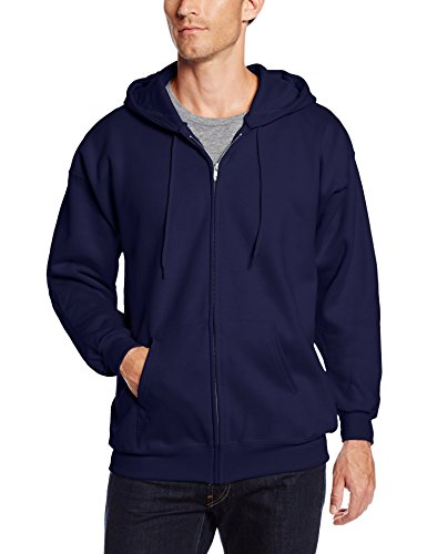 Hanes Men's Ultimate Cotton Full Zip Fleece Hood -f280, Deep Navy, X-Large
