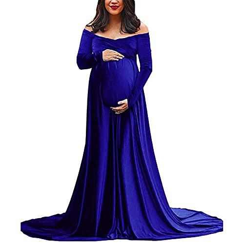 ZLZNX Vestido Largo para Embarazadas Vestido De Sesión De Fotos De Maternidad...