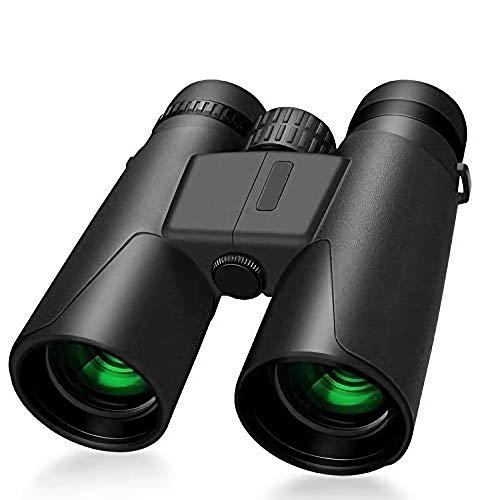 FJYDM Binoculares 10X42 para Adultos, Binoculares De Alta Definición De Enfoque Rápido para Observación De Aves, Ocular Grande De 22 Mm, Lente De Película Multicapa