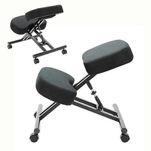 Taburete ergonómico ajustable para el hogar, oficina, meditación, perfecto para aliviar el dolor de espalda y cuello y mejorar la postura, cojines gruesos y cómodos