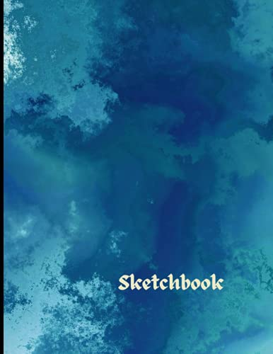 Sketchbook: White Pages With Paint Art Color Cover For Painting, Drawing, Writing, Sketching And Doodling, Wide Papers 8.5 x 11 Inches , 120 Pages ... Boyfriend And girlfriend (Blank Sketchbook)