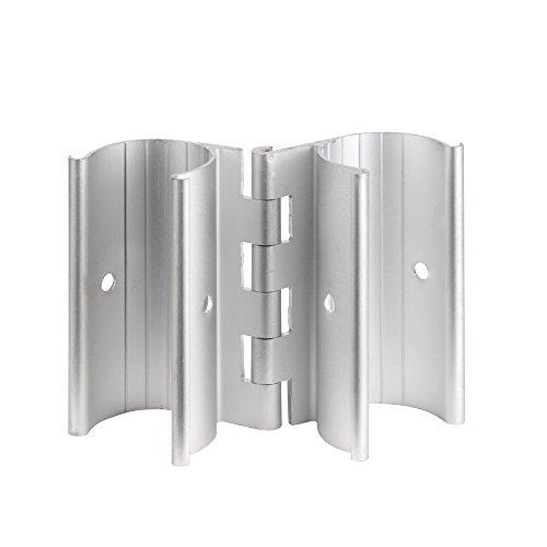 Scharnier zum Anklippen, Aluminium, 3/4 für PVC-Türen, Lüftungsschlitze oder Tore 3/4 Inch