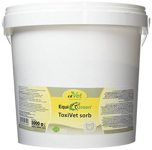 cdVet natuurproducten EquiGreen ToxiVet sorb 5 kg - paarden - ondersteunt de darmgezondheid - bindt gifstoffen in de darm - B-vitaminen + spoorelementen + essentiële aminozuren - beschermbarrière -