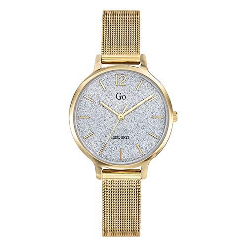 Girl Only - Reloj de pulsera analógico para mujer, oro 695234 GO con correa de acero inoxidable, UGO695234