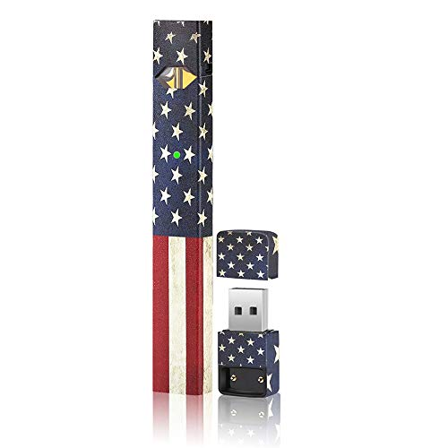 Skin|Sticker|Wrap|Decal Compatible with JUUL(US Flag)(American Flag)(No Device Included) Accessories Fit for JUUL