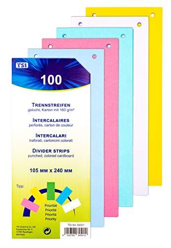 TSI 64501 Trennstreifen 100er Packung stabiler Karton, 160 g/m²