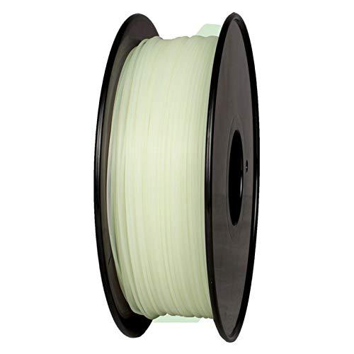 3D Printer Filament,Filament Diameter: 1.75mm+/-0.02mm,1Kg Spool,Various Colours, Suitable for 3D Printers, 3D Printing Pens (Color : Luminous Green)