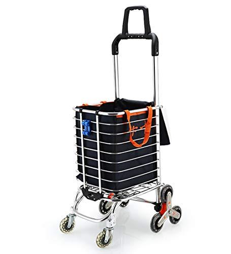 QIANGDA-Handwagen Einkaufstrolley Faltbar Einkaufswagen Mit Universalrad Rahmen Aus Aluminiumlegierung Picknick-Wagen Leicht 35L Kapazität, 30x45x95cm