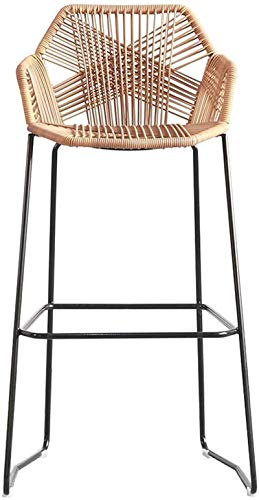 JYV Dining Chair Crafted Rattan Chair | Rattan Wicker | Outdoor Patio Furniture, Backyard, Porch, Garden (Color : Height 58cm)