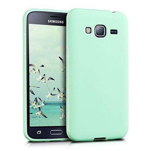 kwmobile Hülle kompatibel mit Samsung Galaxy J3 (2016) DUOS - Hülle Silikon - Soft Handyhülle - Handy Hülle in Mintgrün matt