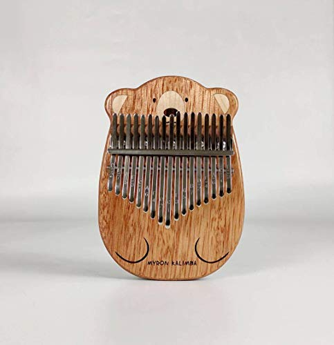 Myron Cute Cat Bear Kalimba | Flate Board Wooden Kalimba | Thumb Piano With Carry Bag | Non Screen Birthday Gifts for Son for Him