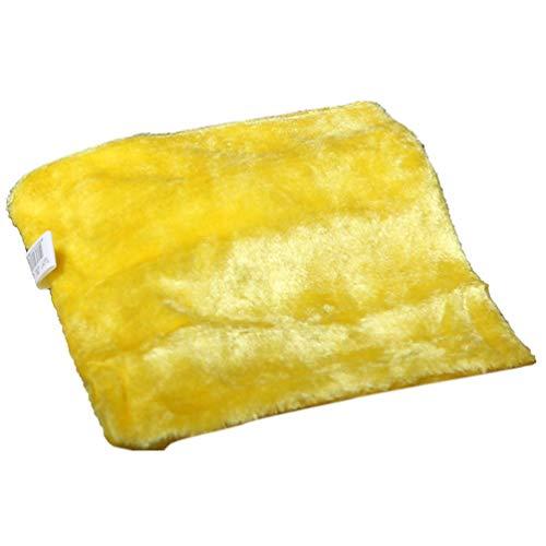 SWEEPID - Detergente desechable de fibra de madera para platos de cocina con trapo antiadherente, muy absorbente, color amarillo