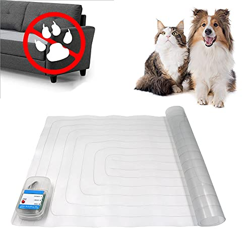 JSBH Upgraded Scat Mat - 30 x 16-inch Indoor Electronic Pet Shock Pad, Keep Pets Off Couch and Furniture Repellent/Deterrent ScatMat Training Mats for Dogs & Cats with LED Indicator