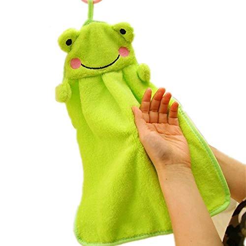Xmj Toallas de cocina toallas suaves Que la cocina Puede colgar, Verde