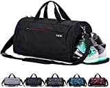 CoCoMall Sports Gym Bag with Shoes Compartment and Wet Pocket, Travel Duffle Bag