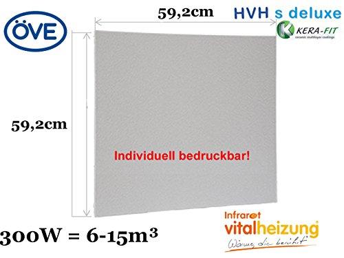 300W Infrarotheizung, bedruckbares Heizpaneel, optimierte Heizleistung, 60x60cm, Vitalheizung HVH300 s-deluxe