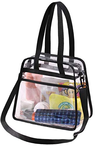 Great Features Of SLEEPING LAMB Clear Tote Bag with Extra Pocket Stylish Transparent Crossbody Messe...