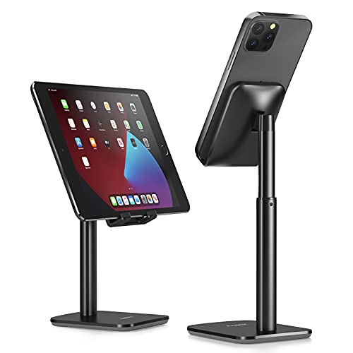 Nulaxy Phone Stand, Height Angle Adjustable Cell Phone Stand, Phone Holder for Desk Compatible with...