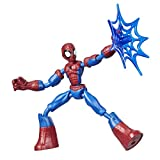 Marvel Figura de acción de Spider-Man Flexible y articulada de 15 cm, Incluye Accesorios de Red, para niños a Partir de 6 años, Multicolor (Hasbro E7686)