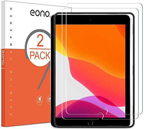 Eono by Amazon - 2 Stück Panzerglasfolie kompitabel mit iPad 10.2 (iPad 8. Generation/iPad 7. Generation) / iPad Air 3 (10.5 Zoll) / iPad Pro 10.5, 2.5D, 9H,Anti-Kratzen,Bläschenfrei