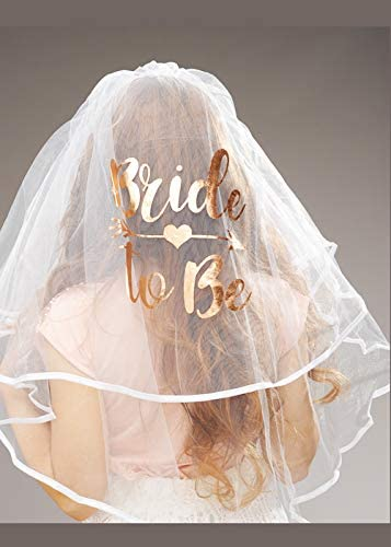Struts Hen Night Deluxe Rose Gold Bride to Be Veil