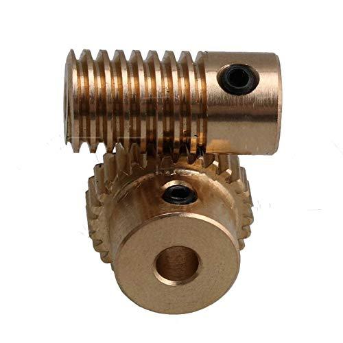 0,5 Modul Messing Metall 3mm Loch Zahnradwelle und 30 Zähne Schneckenrad Schneckenradsatz