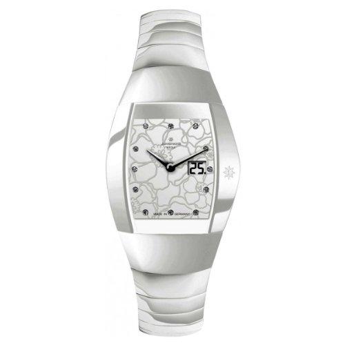 Junghans Damen-Armbanduhr Aura Quadra Analog Quarz Keramik 013/1120.44