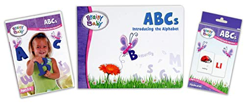 Brainy Baby Teach Your Child ABCs Learning Library: Introducing the Alphabet Board Book, DVD and...