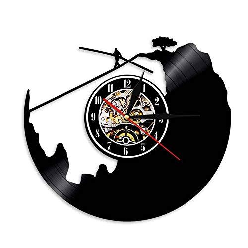 FDGFDG Seil Wanduhr Spaß Vinyl Schallplatte Uhr Extremsport Dekoration Uhr Stahldraht Walk Explorer Entdecker Geschenk